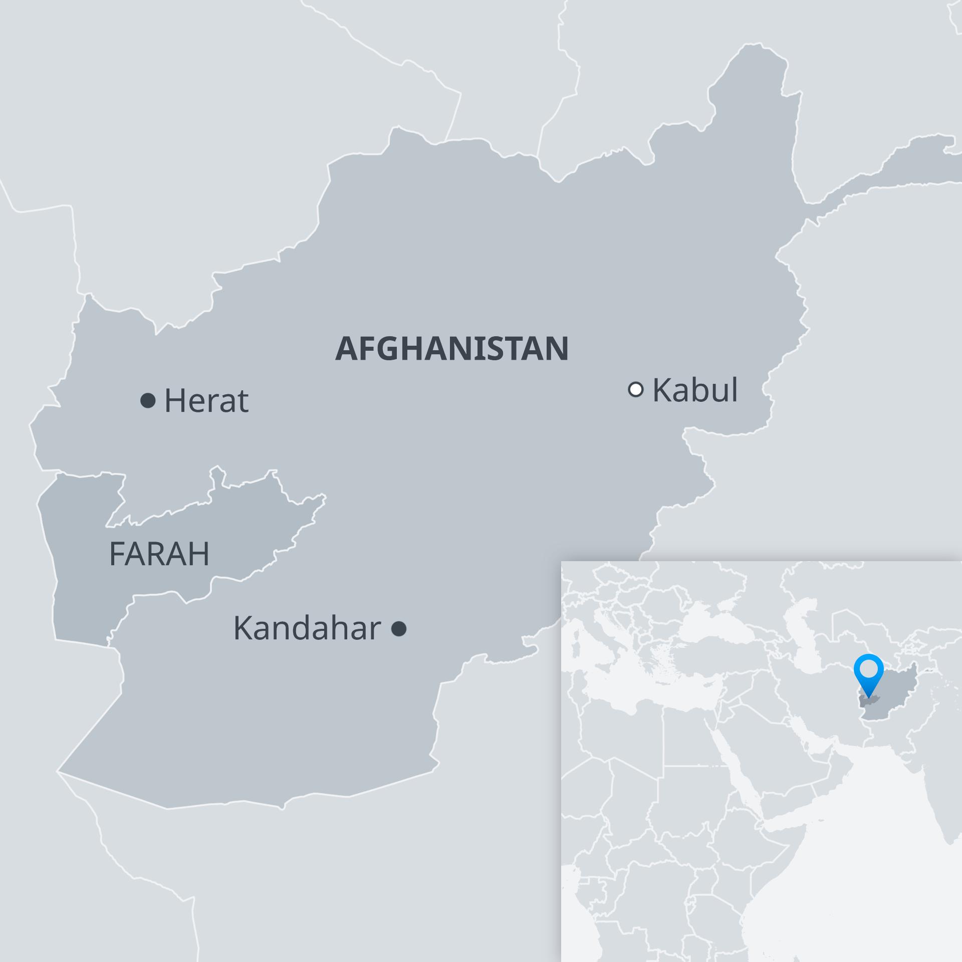 Karte Afghanistan Farah EN/DE