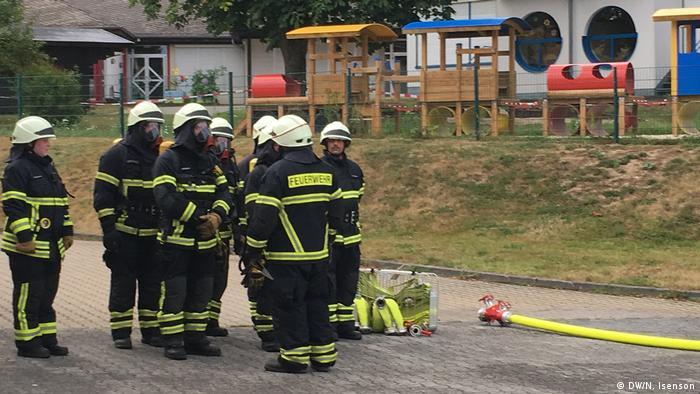 Тренування пожежників-добровольців у громаді Санкт Катарінен федеральної землі Рейнланд-Пфальц