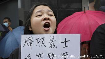 Proteste gegen Gerichtsverhandlungen in Hongkong