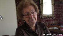 Aleksandra Diermajer-Sękowska, zu Hause in Warschau 2019 und als Mädchen. Sie war im Kommunikations- und Sanitätsdienst der Heimatarmee im Warschauer Aufstand 1944. Sie war Pfadfinderin und hatte Pseudonim Oleńka.
