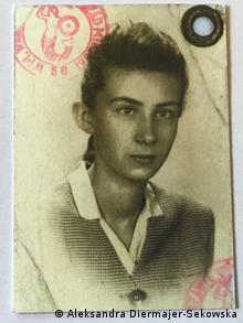 Aleksandra Diermajer-Sękowska als Mädchen