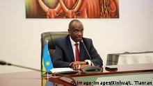 Ruandas Außenminister Richard Sezibera spricht bei einer Pressekonferenz in Kigali
