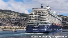 Kreuzfahrtschiff, Hafen, Funchal, Madeira, Portugal, Europa | Verwendung weltweit, Keine Weitergabe an Wiederverkäufer.