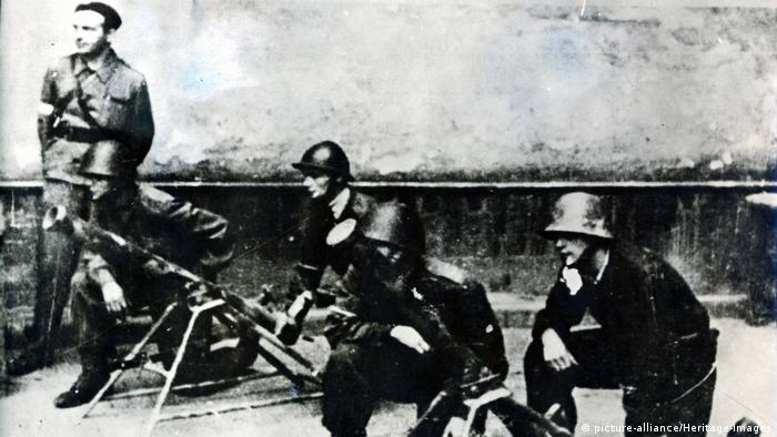 Combatentes poloneses no Levante de Varsóvia de 1944