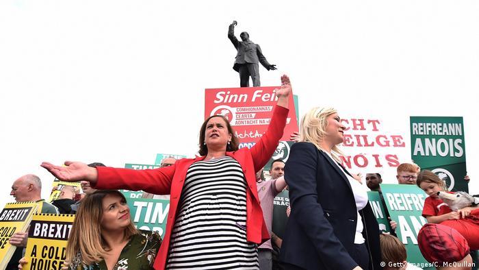 Großbritannien Boris Johnson in Belfast Proteste (Getty Images/C. McQuillan)
