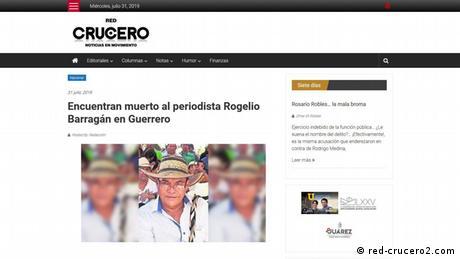 Screenshot Crucero (red-crucero2.com)