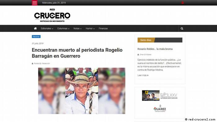 Screenshot Crucero (red-crucero2.com)