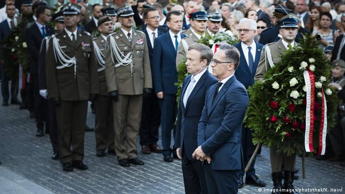 Глава МИД ФРГ Хайко Мас на торжествах в честь 75-летия Варшавского восстания в Польше