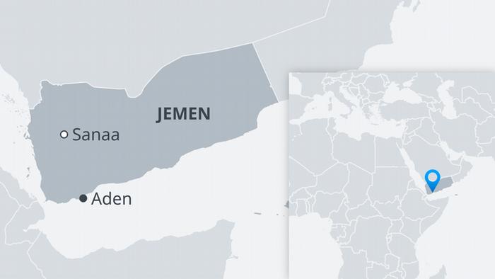 Karte Jemen Sanaa Aden DE
