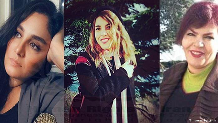 Iran, Zwangs Hijab, Frauen Aktivisten, Monire Arabshahi, Jasmin Aryani, Mojgan Keshavarz (humanrightsinir)