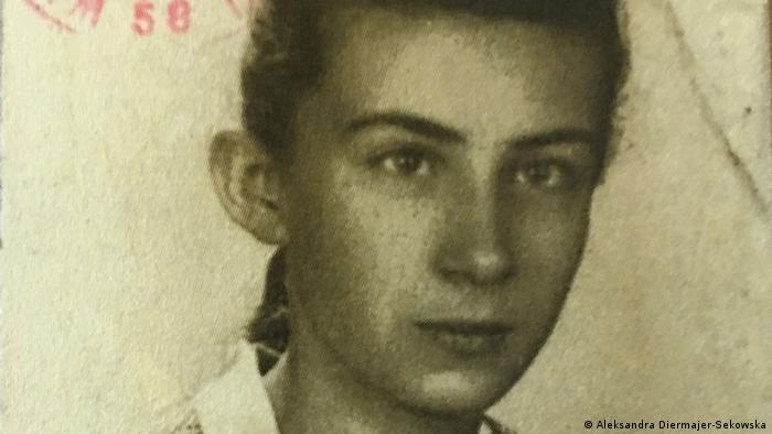 Aleksandra Diermajer-Sękowska als Jugendliche