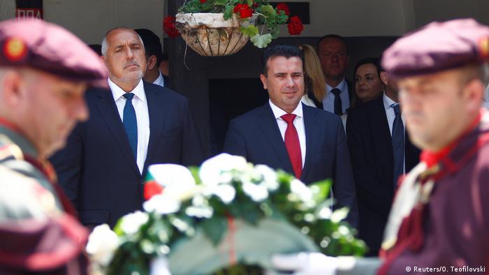 Nord-Mazedonien Bulgarien Borissov zu Besuch bei Zaev in Skopje (Reuters/O. Teofilovski)