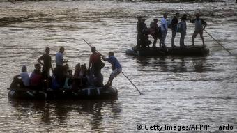 Migrants traveled by boat