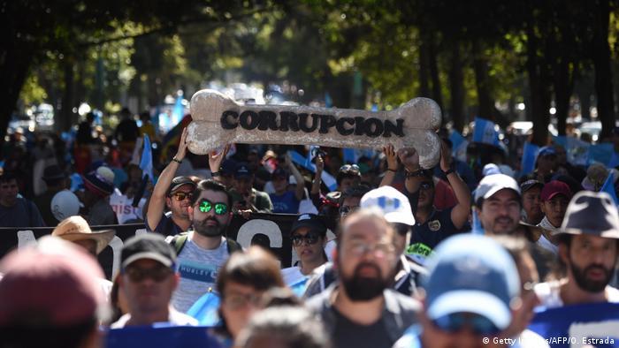 BG Asylabkommen zwischen Guatemala und die USA: Proteste in Guatemala (Getty Images/AFP/O. Estrada)