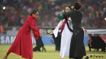 Eröffnung der Fußballspiele in West-Asien in Kerbela