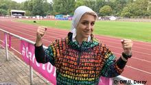 Maryam Irandoost im Rahmen von Discover Football in Berlin abgebildet. Willy Kressmann Stadion, Kreuzberg, Dudenstr. 40 Sie ist Irans Nationaltrainerin.