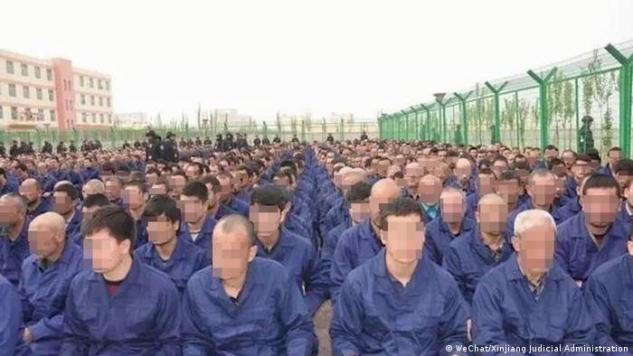 Çin'deki bir kampta tutulanlar