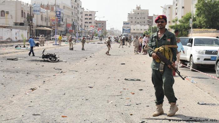 Jemen Aden - Anschlag Polizeistation (Imago Images/Xinhua/M. Abdo)