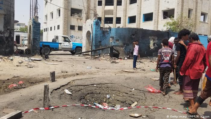 Jemen Aden - Anschlag Polizeistation (Getty Images/AFP/N. Hasan)