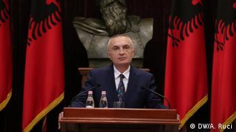 Der albanische Präsident Ilir Meta (DW/A. Ruci)