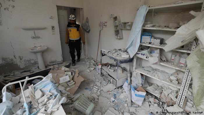 Syrien   Zerstörung in Idlib   Krankenhaus