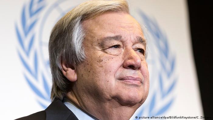 UN-Generalsekretär Guterres (picture-alliance/dpa/Bildfunk/Keystone/C. Zingaro)
