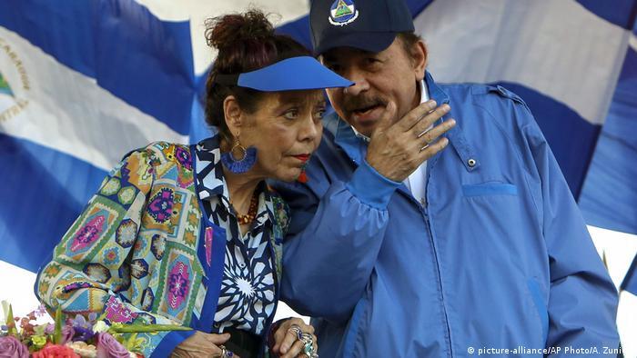 Niracagua Präsident Daniel Ortega und Rosario Murillo