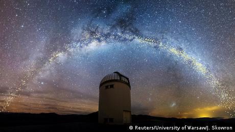 BdTD Chile | Die Galaxie der Milchstraße ist über dem Warschauer Teleskop zu sehen (Reuters/University of Warsaw/J. Skowron)
