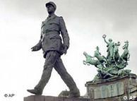Estátua de Charles de Gaulle: o general comandou a luta contra a ocupação alemã