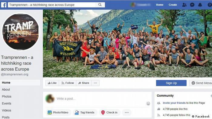 Screenshot Facebook - Tramprennen