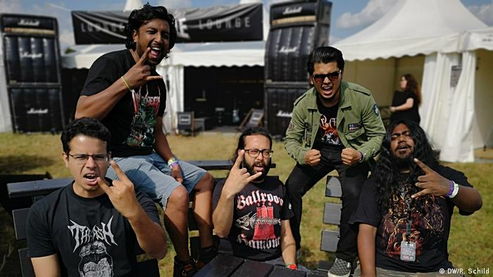 members of band Trainwreck from Bangladesh
