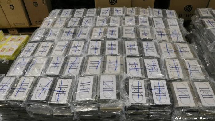 Part of the 4.5-ton seizure of cocaine, Hamburg, Germany