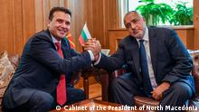 Premierminister Nord-mazedoniens Zoran Zaev und Bulgarische Premierminister Boyko Borisov