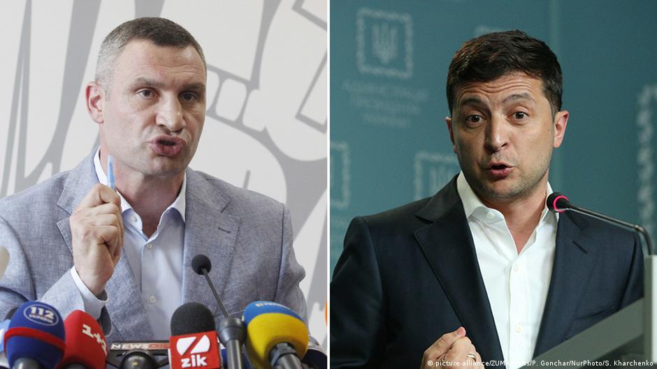 Kombibild Vitali Klitschko und Volodymyr Zelensky
