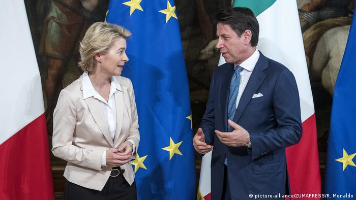 Italien Europa Migration l Neue EU-Kommissionchefin Ursula von der Leyen trifft Premierminister Giuseppe Conte in Rom