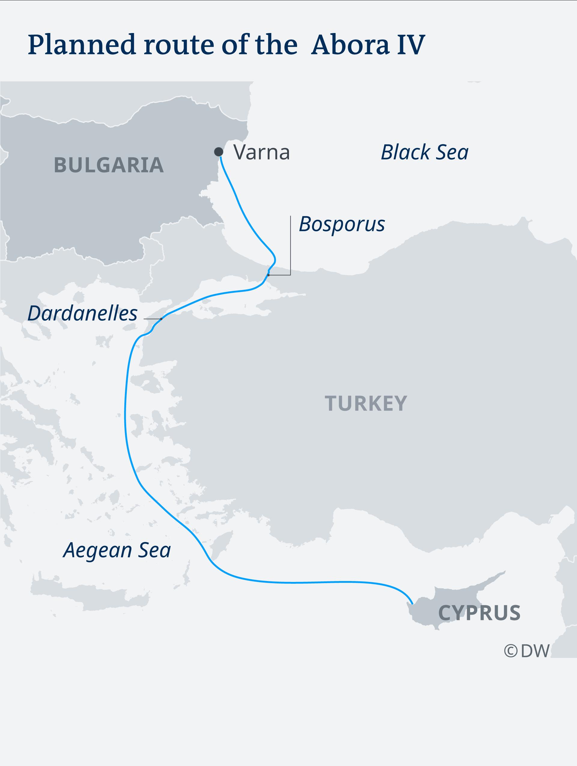 Karte Route der Abora IV EN