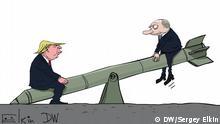 DW Karikatur - INF-Vertrag offiziell beendet