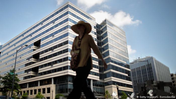 Das Hauptquartiers des Internationalen Währungsfonds in Washington, DC