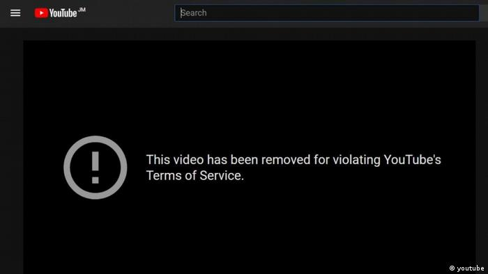 Screenshot Youtube | This video has been removed for violating YouTubes`s Term of Service