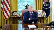USA l US-Präsident Donald Trump - schlechte Laune, wütend