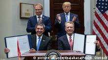 USA | Präsident Trump gibt eine Ankündigung zu E.U. Handel