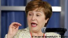 June 7, 2019, Tokyo, Japan - The World Bank CEO Kristalina Georgieva delivers a keynote speech for the G20 High-level Symposium on Aging and Financial Inclusion in Tokyo on Friday, June 7, 2019. The symposium is a connected to the G20 Finance Ministers and Central Bank Governors meeting which will be held in Fukuoka on June 8 and 9. PUBLICATIONxINxGERxSUIxAUTxHUNxONLY (105299718)