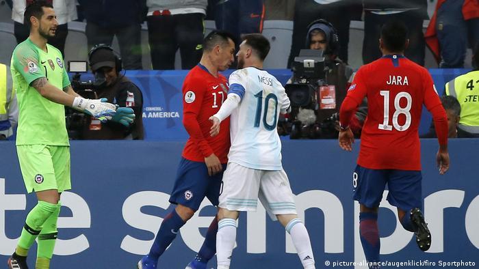Lionel Messi Fußball, Fussball, International, CONMEBOL, COPA AMERICA 2019 Brasilien, Spiel um Platz 3, Argentinien - Chile 2:1
