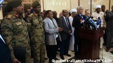 Sudan Khartum Pressekonferenz Mohamed Hacen Lebatt