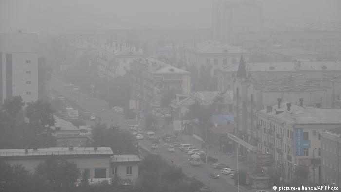 Russland Waldbrände in der Region Krasnojarsk   Tschita (picture-alliance/AP Photo)
