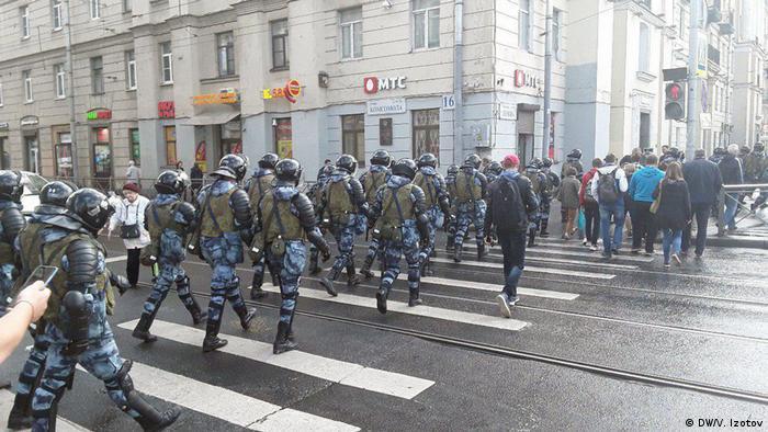Росгвардия на улице в Петербурге