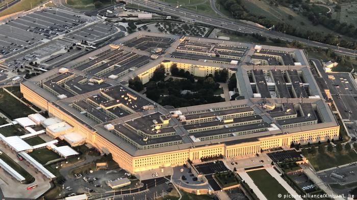 نمایی از ساختمان وزارت دفاع آمریکا (پنتاگون)