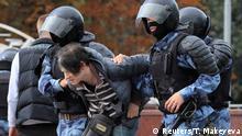 Russland l Protest gegen Wahlausschluss von Oppositionskandidaten - Festnahme von Teilnehmer