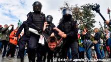 Russland, Moskau: Proteste der Opposition