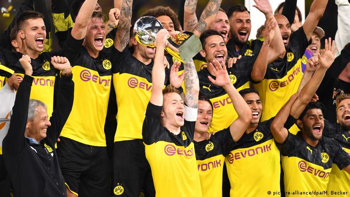 German Supercup Jadon Sancho Dazzles As Dortmund Outshine